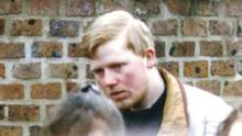 Colin Ash-Smith attending the funeral of Claire Tiltman in 1993. He has been convicted of murdering the 16-year-old