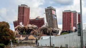 Lesley Smith's photo of the Red Road Flats, in Glasgow (Take A View/PA)