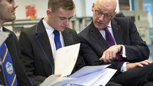 Deputy First Minister and Education Secretary John Swinney has welcomed the rising pass rates despite more than a quarter of results being changed by the SQA (David Cheskin/PA)