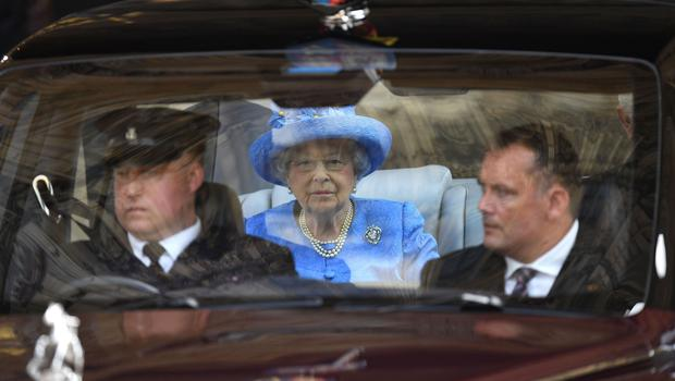 The Queen leaving the Palace of Westminster by car after the State Opening Of Parliament in 2017 (Leon Neal/PA)