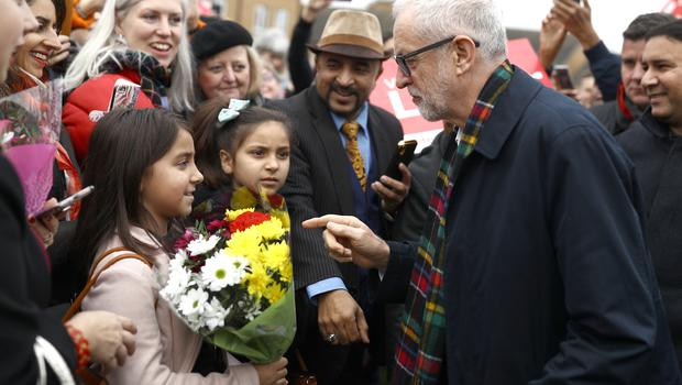 The Labour leader met supporters in Thurrock (Aaron Chown/PA)