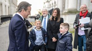 Archie Hill was able to hand a petition to Mr Cameron in person at 10 Downing Street