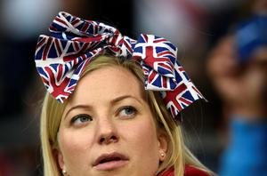 An England fan before the game