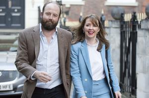 Theresa May's former advisers Nick Timothy and Fiona Hill. (Rick Findler/PA)