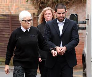 Michael Lane arriving at court during his trial (PA)