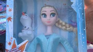 A fake Disney Frozen II doll which contained a dangerous chemical (Warwickshire Trading Standards/PA)