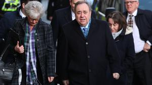 Alex Salmond arrives at court (Andrew Milligan/PA)