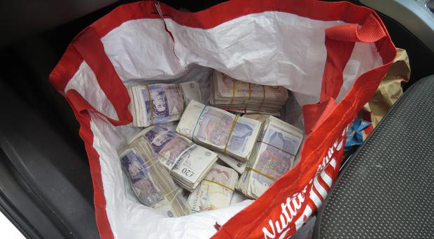 Cash seized by police during the investigation (Metropolitan Police/PA