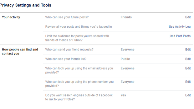 You can mass alter the settings for old posts, before also changing them individually (Facebook/PA)
