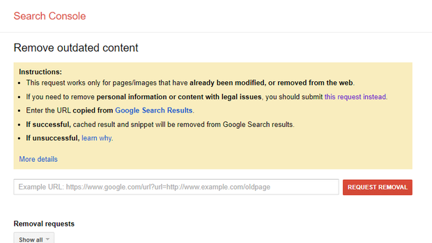 You can request that Google remove outdated content using an online form. (Google/PA)