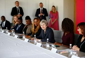 Prime Minister Theresa May announces the Race at Work Charter (Henry Nicholls/PA)