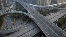 Deserted roads in Wuhan, the Chinese city at the epicentre of the outbreak