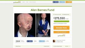 More than £250,000 has been raised for pensioner Alan Barnes