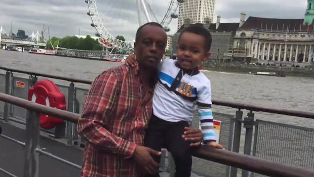 Paulos Tekle with his son, Isaac Paulos (Grenfell Tower inquiry/PA)