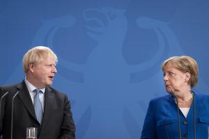 Prime Minister Boris Johnson has repeated his threat of collapsing talks with the EU despite warnings from German chancellor Angela Merkel (Stefan Rousseau/PA)