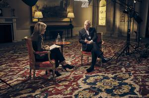 Prince Andrew, who has denied having had any sexual contact with Ms Giuffre, seen here in his BBC interview (Mark Harrison/BBC/PA)
