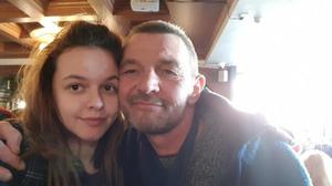 Cerys Evans with her father Lyndon Evans (Cerys Evans)