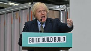 Boris Johnson giving a speech on plans to help stimulate the nation's recovery from the coronavirus pandemic (Paul Ellis/PA)