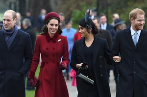 The Duke and Duchess of Cambridge and the Duke and Duchess of Sussex attend the Christmas Day service on the Queen's Sandringham estate (Joe Giddens/PA)