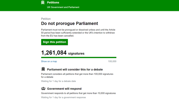 (Petitions/UK Government and Parliament/PA)