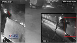 CCTV image of Maurice Robinson in Eastern Avenue, Thurrock. Vapour is seen rising from the trailer where the bodies of 39 migrants were found on October 23 2019 (Essex Police/PA)