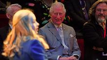 The Prince of Wales watching a performance of The Boy in the Dress at the RSC. (Jacob King/PA)
