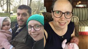 Sarah Wright discovered she was pregnant and had cancer in the same week (#SaveSarahGray/Adam Wright)