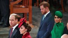The Duke and Duchess of Sussex were reportedly barely speaking with the Duke and Duchess of Cambridge at the Commonwealth Service at Westminster Abbey in March (Phil Harris/Daily Mirror/PA)