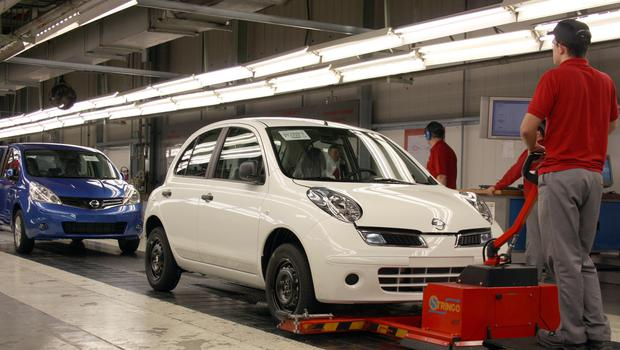 Car production has fallen for the 14th month in a row, new figures show (Nissan/PA)