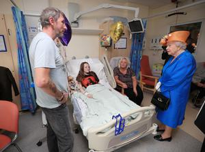 Millie met the Queen while she was recovering (Peter Byrne/PA)