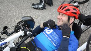Gary Dawson, pictured, and Martin Hibbert will take part in a virtual bike ride of Tuscany for charity (Spinal Injuries Association/PA)