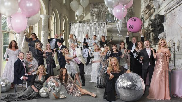 The winners were photographed to mark the National Lottery's 25th anniversary (Sven Arnstein/Neil Cunningham/PA)
