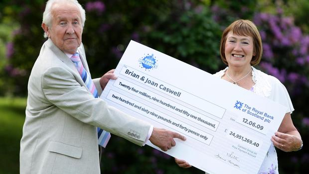 Lottery winners Brian and Joan Caswell (Dave Thompson/PA)