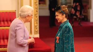 Actress Emma Samuelson, also known as Emma Samms, was awarded an MBE