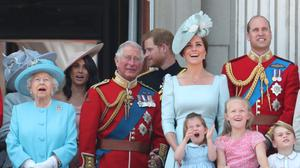 The royal family on the balcony together at Trooping the Colour (Yui Mok/PA)