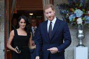 The Duke and Duchess of Sussex are expecting a baby in the spring (Brian Lawless/PA)