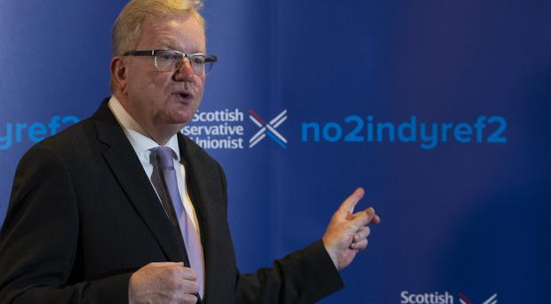 Scottish Conservative leader Jackson Carlaw said the election is on a 'knife edge' (Jane Barlow/PA)