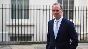 Foreign Secretary Dominic Raab will take charge of the Government's daily emergency Covid-19 meeting in Boris Johnson's absence (Victoria Jones/PA)