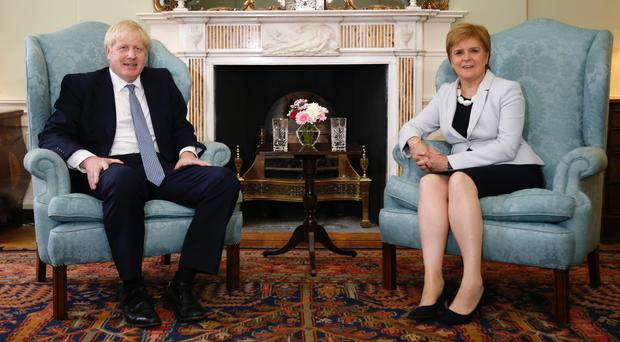 Boris Johnson said he would not grant permission for a second Scottish independence referendum (Duncan McGlynn/PA)