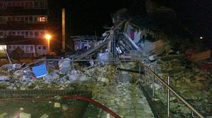 The scene after a property in Shirley, Southampton, was reduced to rubble by a gas explosion (Hampshire Fire and Rescue Service/PA)