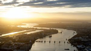 An aerial view of the Thames estuary (PA)