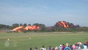 A Hawker Hunter jet exploded in a fireball at the airshow in August 2015 (Screengrab/Sussex Police and CPS/PA)