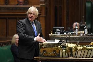 Boris Johnson announced an easing of the two-metre rule in Parliament (UK Parliament/Jessica Taylor/PA)
