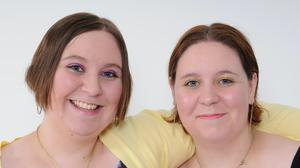 Twin sisters Katy (left) and Emma Davis, who have died within three days of each other after both testing positive for Covid-19 ( Family Handout/PA)