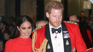 The Duke and Duchess of Sussex arrive at the Royal Albert Hall (Jonathan Brady/PA)