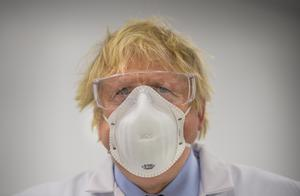 Prime Minister Boris Johnson as he visits the French biotechnology laboratory Valneva in Livingston (Wattie Cheung/Daily Mail/PA)