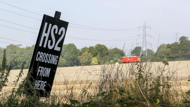 HS2 could cost as much as £106bn, according to a widely leaked review (Steve Parsons/PA)