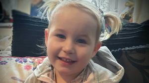 Two-year-old Lola James died in hospital days after police were called to an incident at an address in Haverfordwest, Pembrokeshire (Dyfed-Powys Police/PA)