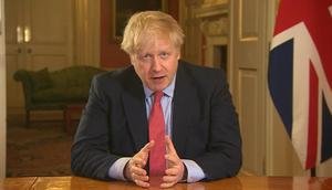 Prime Minister Boris Johnson addresses the nation from 10 Downing Street (PA)