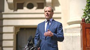 Dominic Raab says he is staying in the UK this summer (Stefan Rousseau/PA)